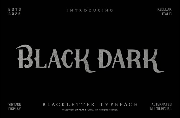 Black Dark Blackletter Display Typeface-1