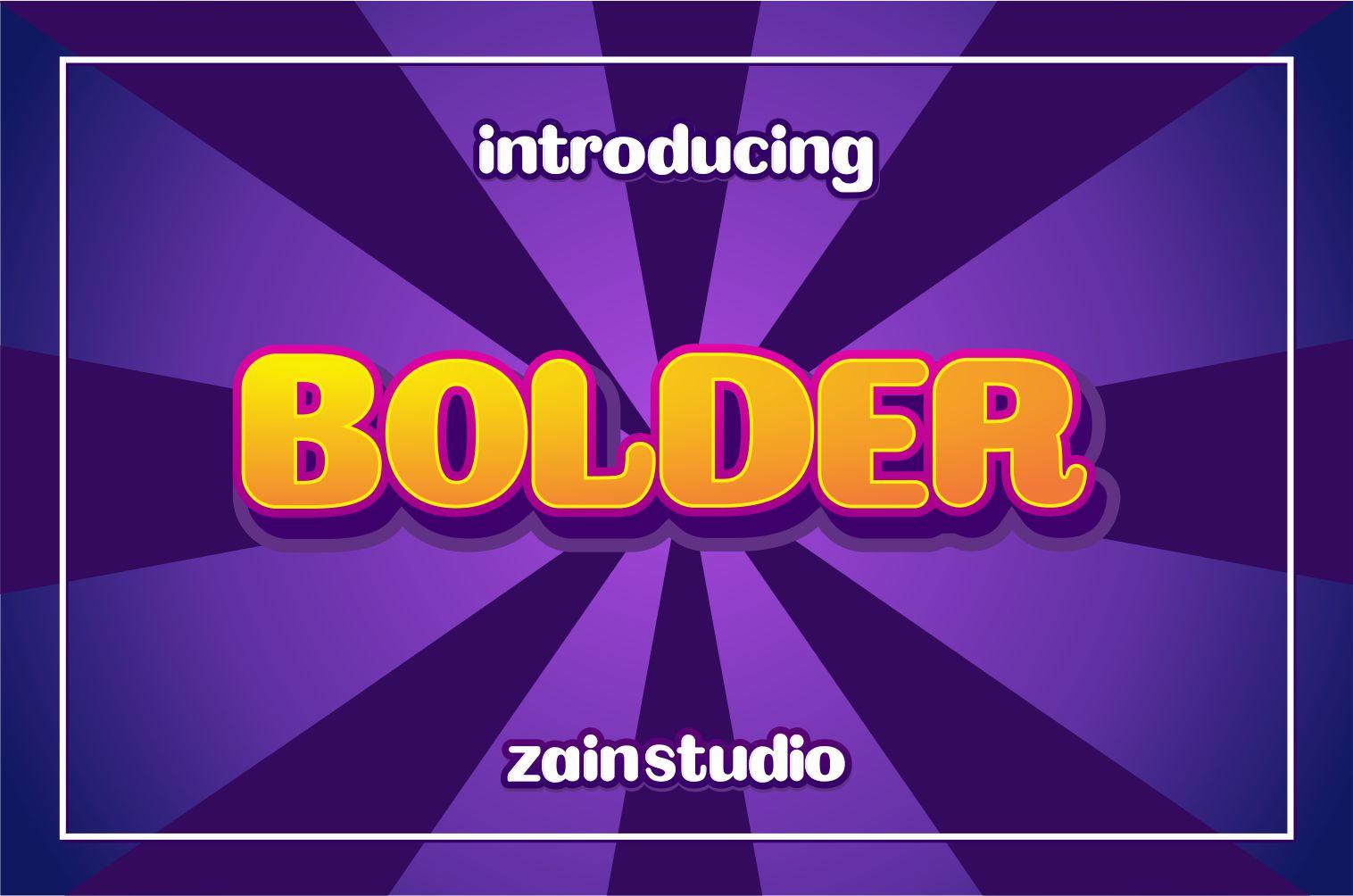 Bolder Bold Display Font-1