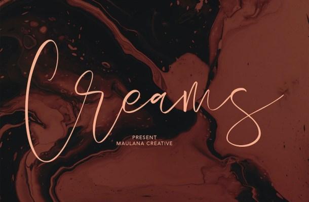 Creams Handwritten Script Font-1