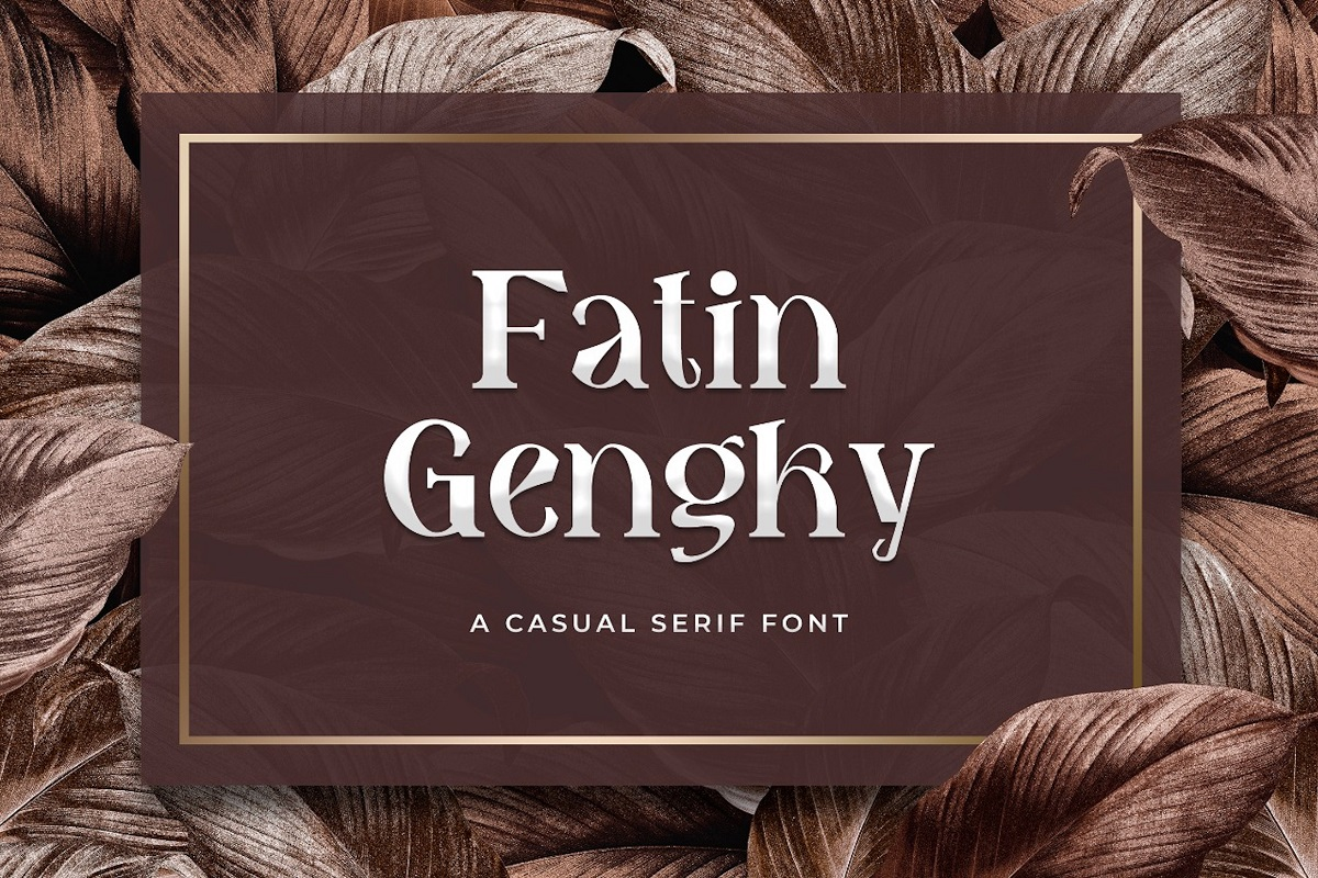 Fatin Gengky Casual Serif Font-1