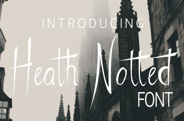 Heath Notted Display Font