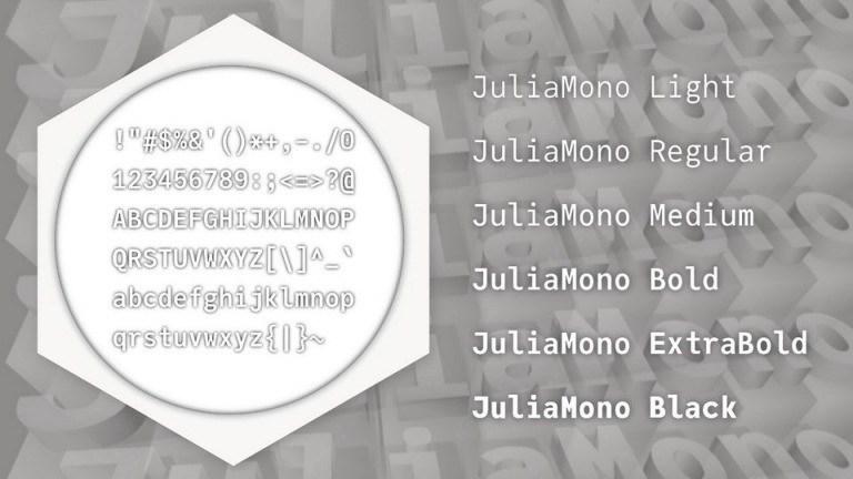 JuliaMono Sans Serif Font Family-2