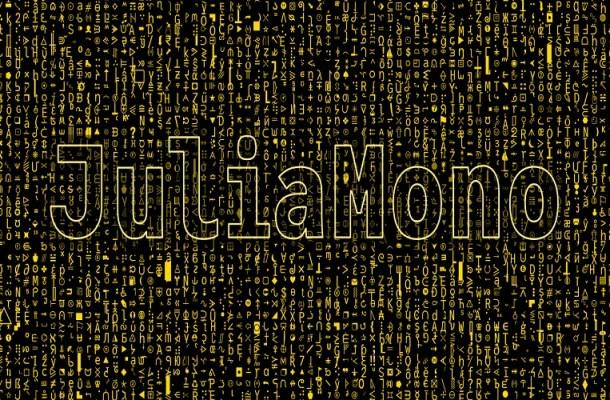 JuliaMono Sans Serif Font Family