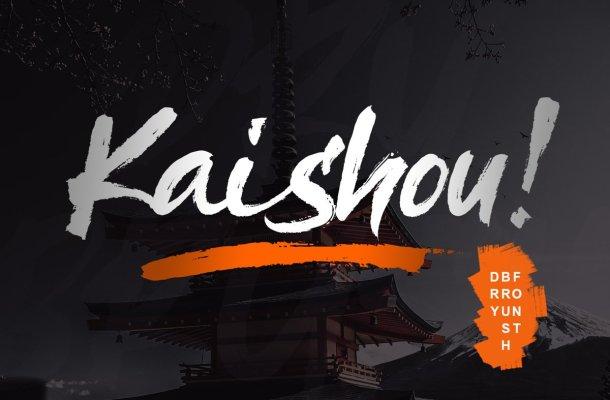 Kaishou! Brush Font