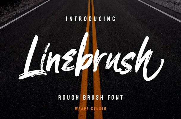 Linebrush Rough Brush Script Font-1