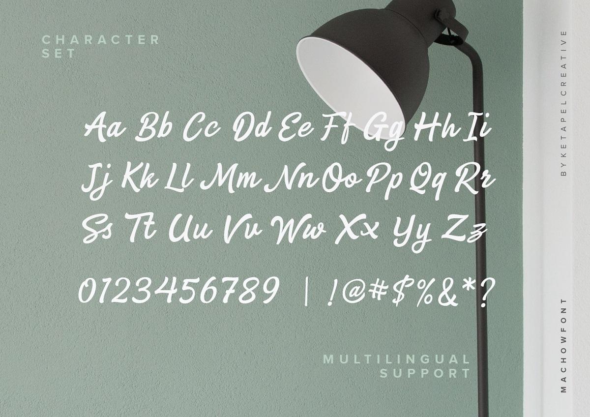 Machow Bold Script Font-3