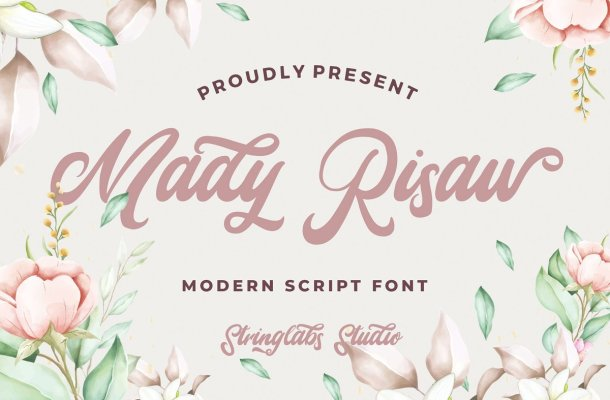 Mady Risaw Modern Script Font