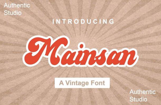 Mainsan Vintage Script Font