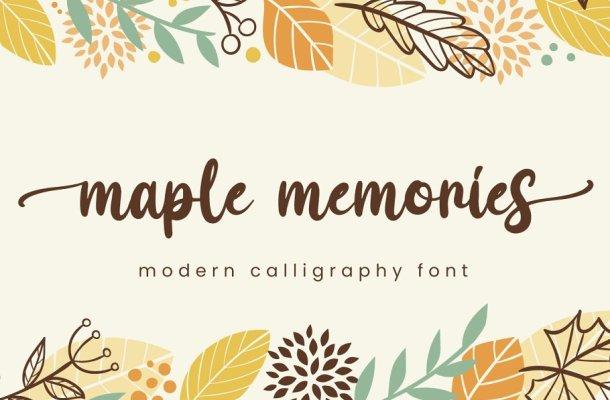 Maple Memories Handwritten Script Font