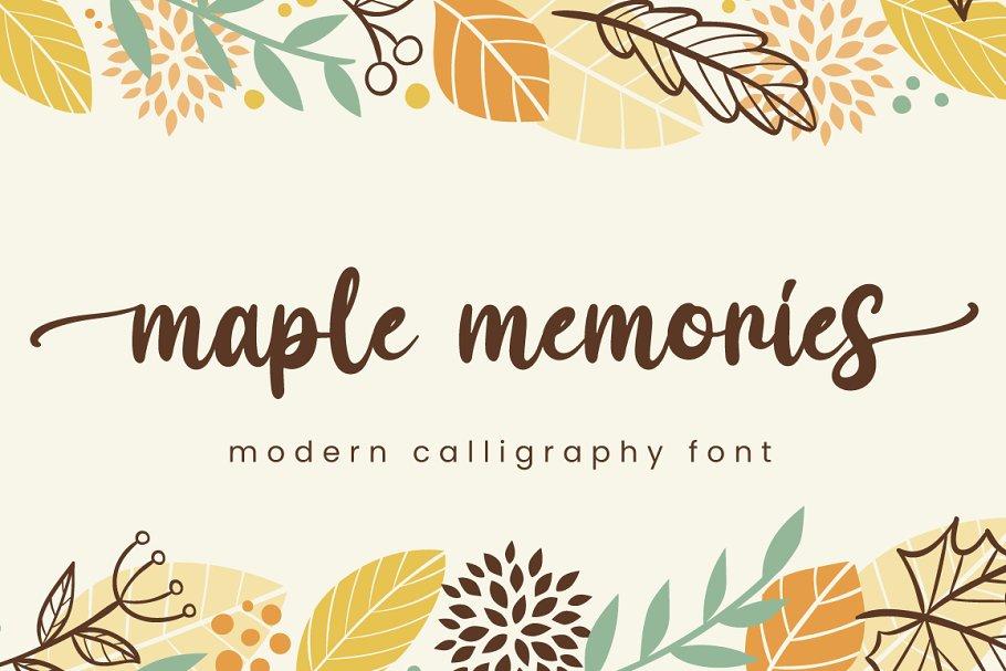 Maple Memories Handwritten Script Font-1