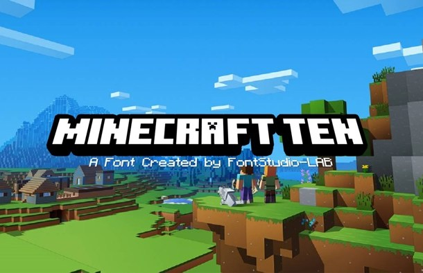 MineCrafter Techno Font