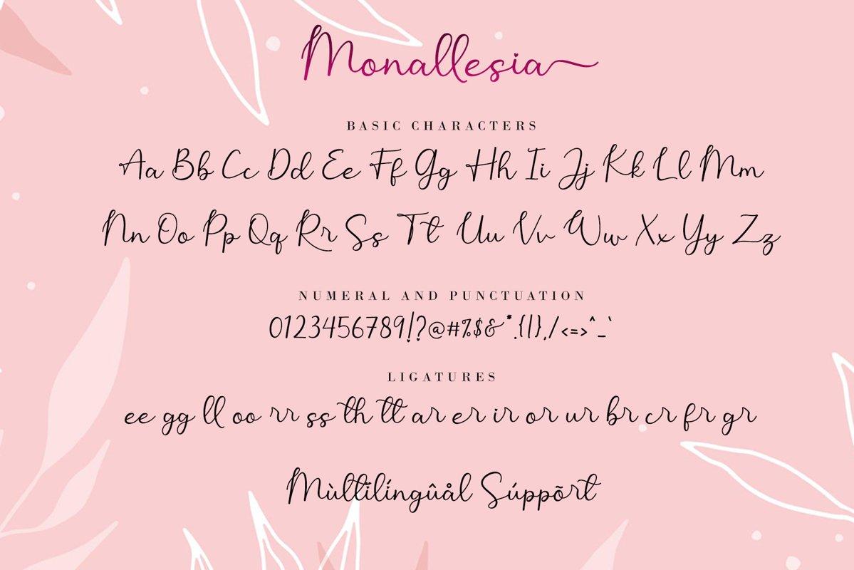 Monallesia Calligraphy Script Font-4