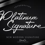 Platinum Signature Handwritten Font