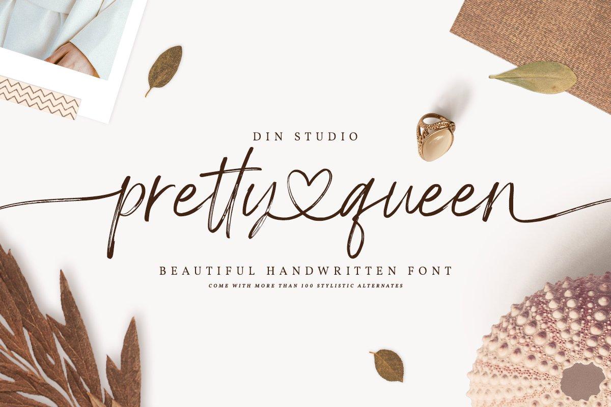 Pretty Queen Handwritten Brush Font-1