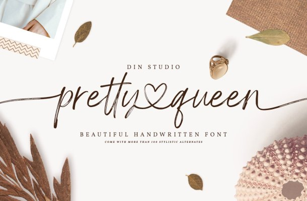 Pretty Queen Handwritten Brush Font