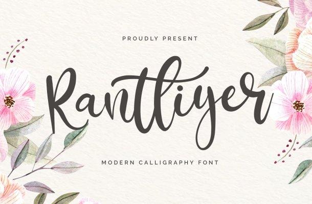 Rantliyer Calligraphy Script Font