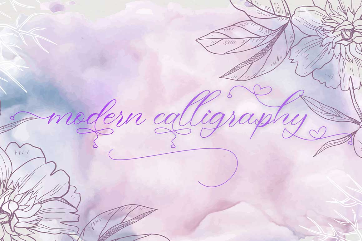 Ringlovely Calligraphy Script Font-2