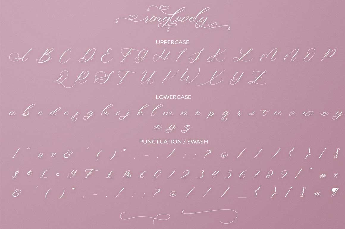 Ringlovely Calligraphy Script Font-3
