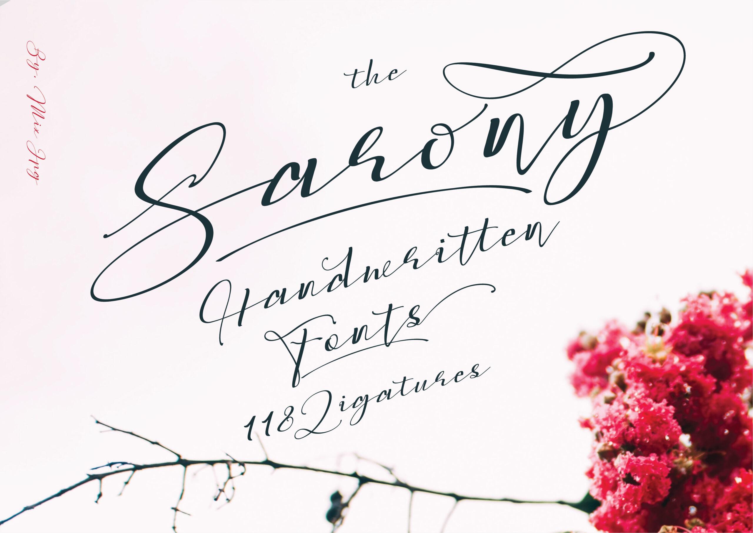 Sarony Handwritten Script Font-1