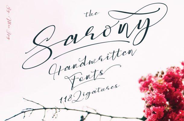 Sarony Handwritten Script Font