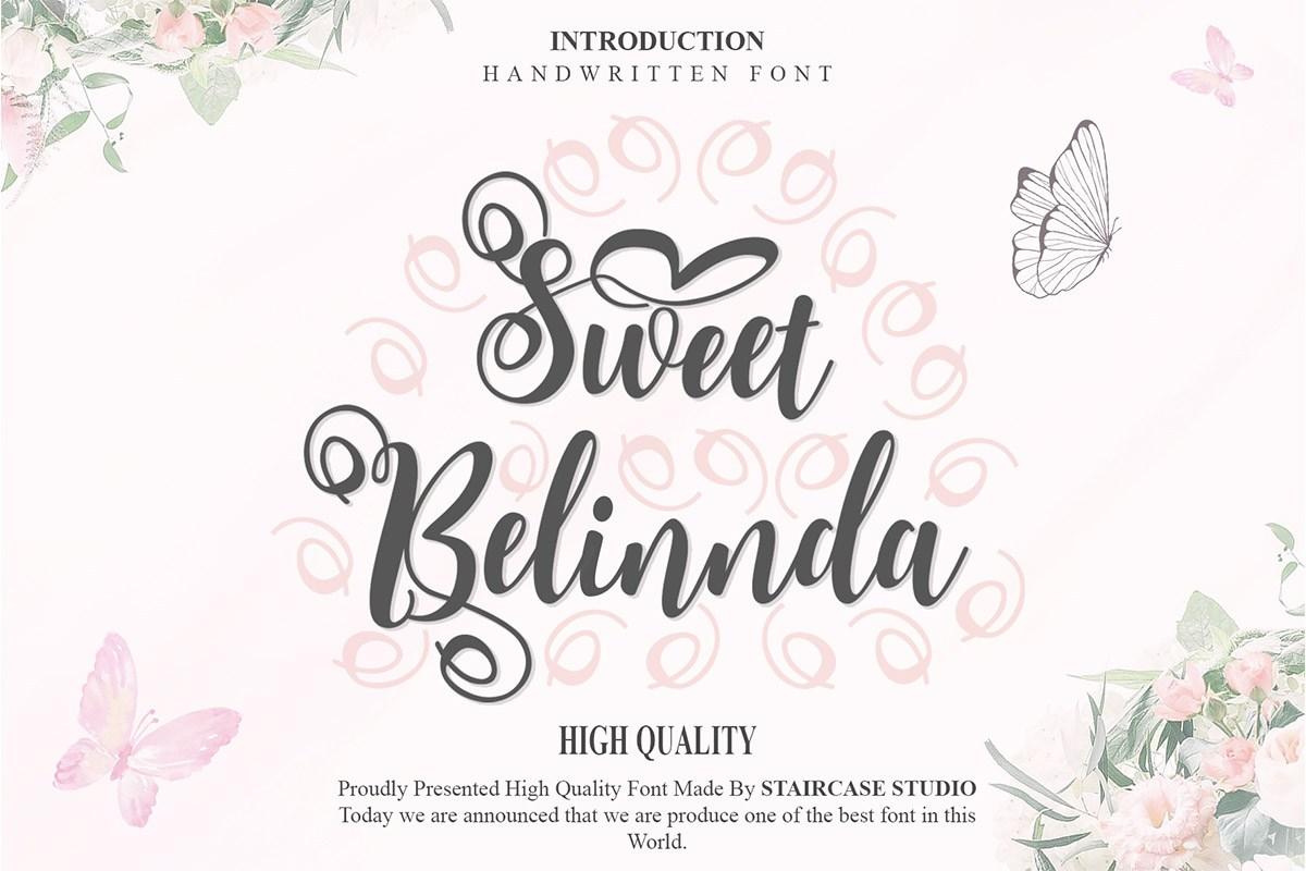 Sweet Belinnda Calligraphy Script Font-1