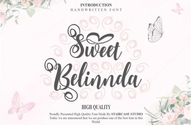 Sweet Belinnda Calligraphy Script Font