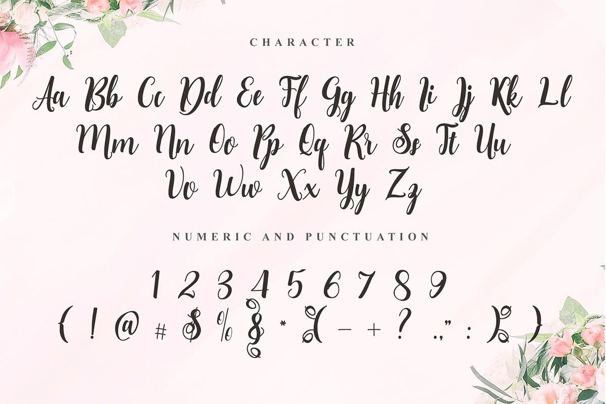 Sweet Belinnda Calligraphy Script Font-3