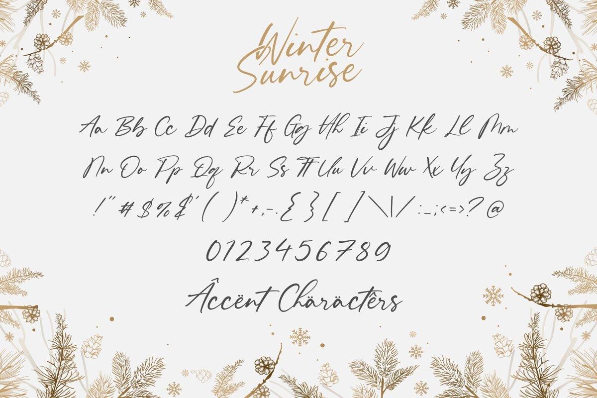 Winter Sunrise Handwritten Script Font-4