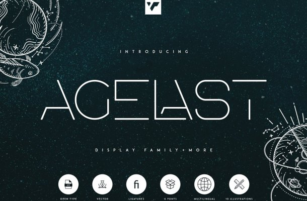 Agelast Display Family Font