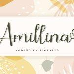 Amillina Calligraphy Script Font