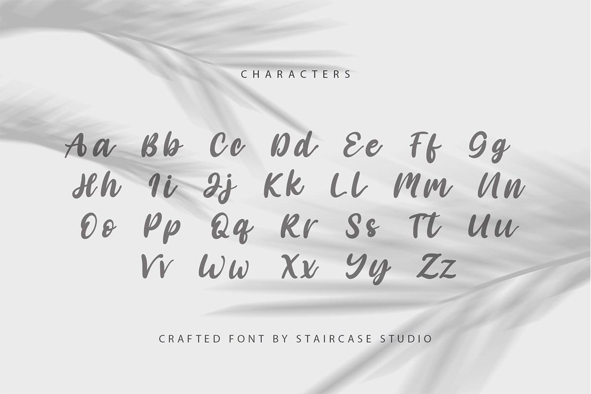 Angelica Caroline Handwritten Script Typeface-3