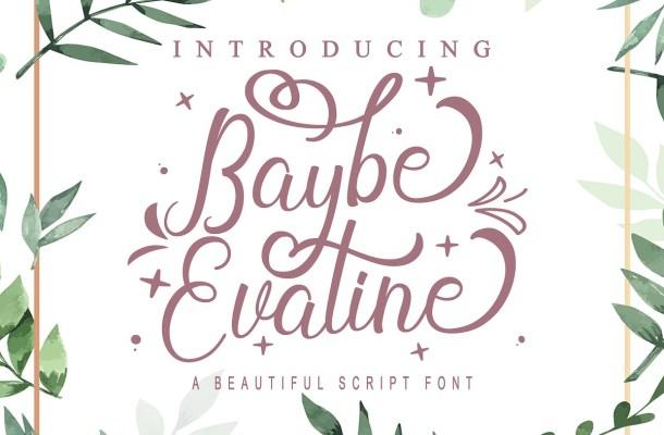 Baybe Evaline Modern Calligraphy Script Font