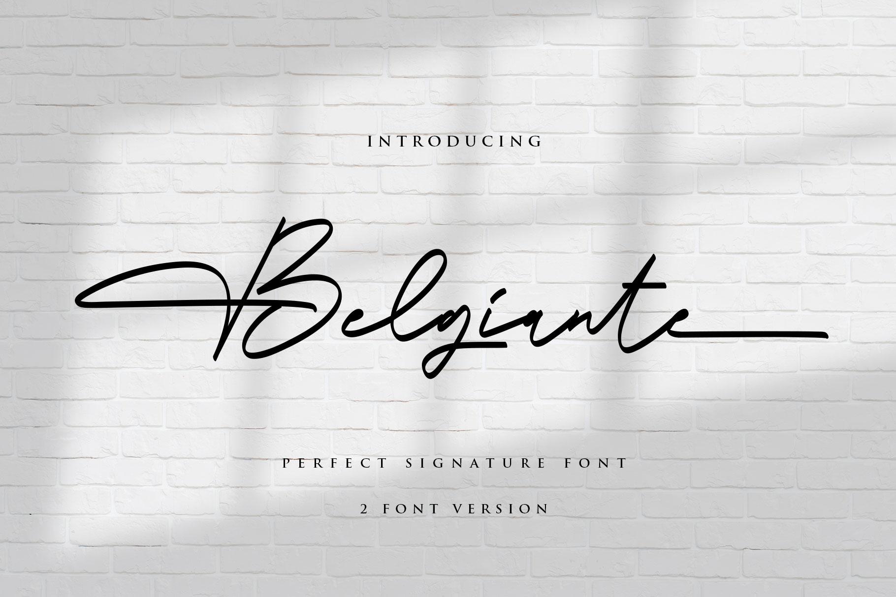 Belgiante Handwritten Signature Font