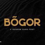 Bogor Modern Sans Serif Typeface