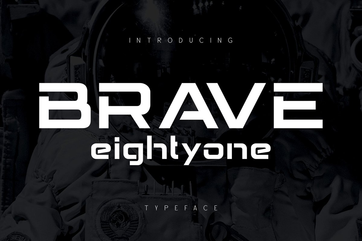 Brave Eighty One Display Typeface-1