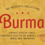 Burma Sans Serif Display Typeface