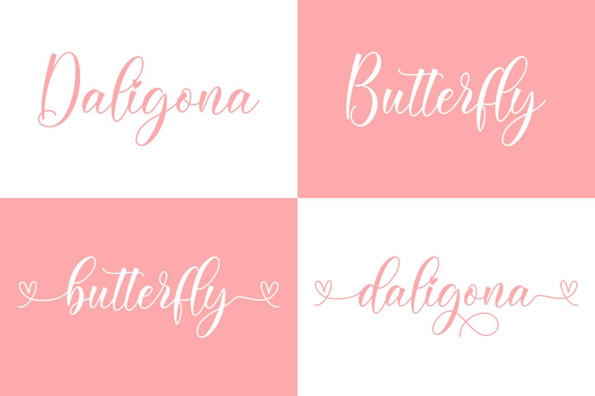 Daligona Modern Calligraphy Script Font-2