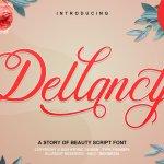 Dellancy Calligraphy Script Font