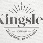 Kingsley Modern Serif Stencil Font