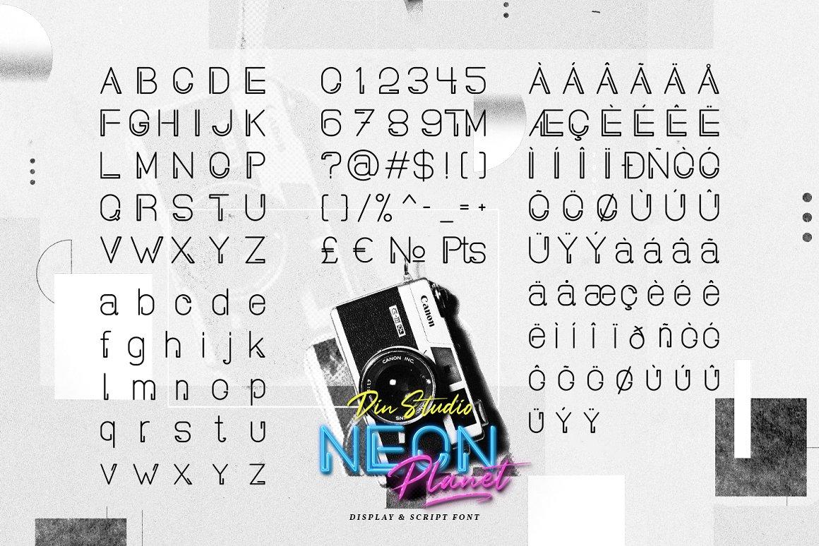 Neon Planet Display Typeface-4