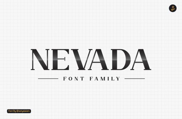 Nevada Bold Slab Serif Typeface