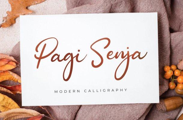 Pagi Senja Handwritten Script Font