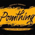 Pomthinq Brush Script Font
