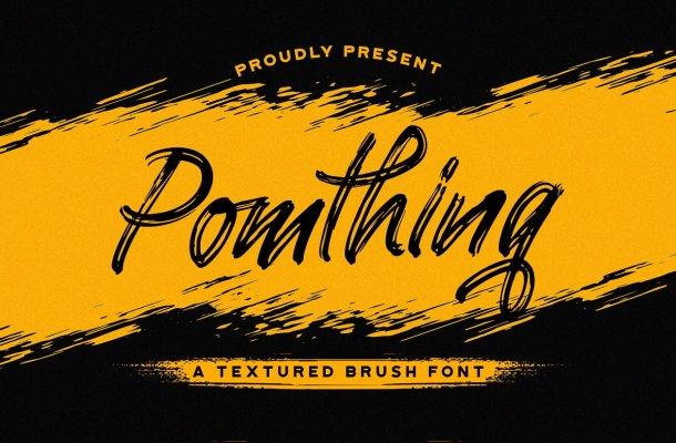Pomthinq Brush Script Font-1