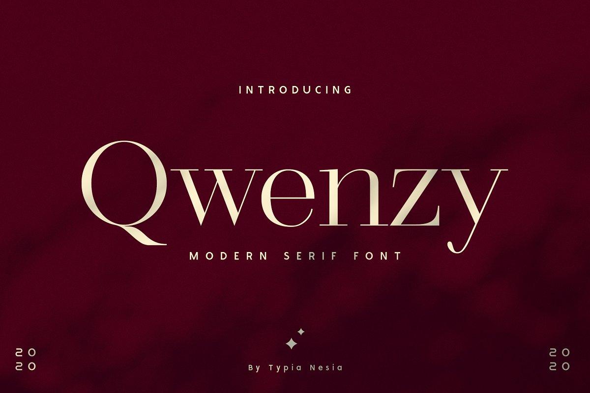 Qwenzy Elegant Serif Font