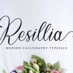 Resillia Calligraphy Script Typeface