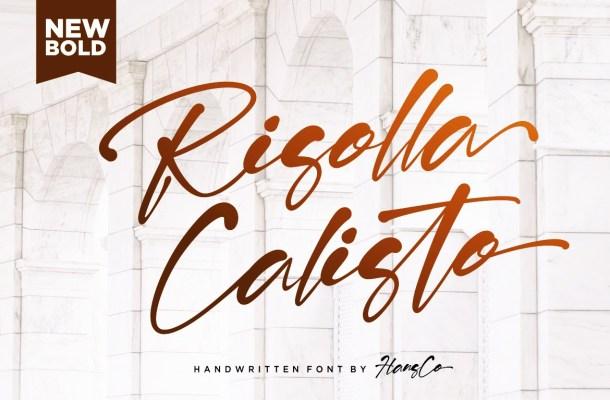 Risolla Calisto Bold Handwritten Script Font