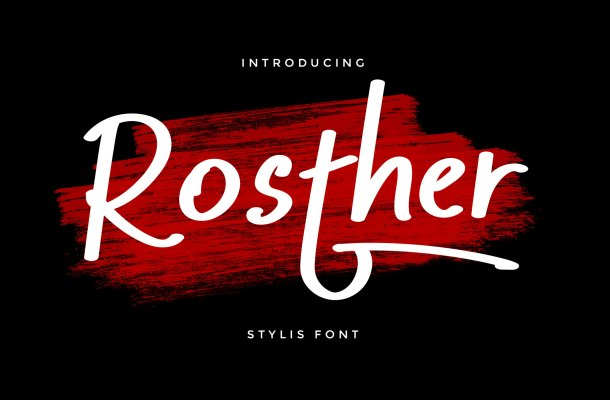 Rosther Bold Script Font