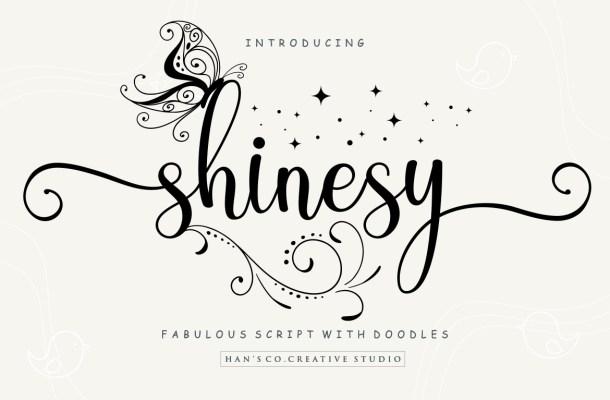 Shinesy Calligraphy Script Font