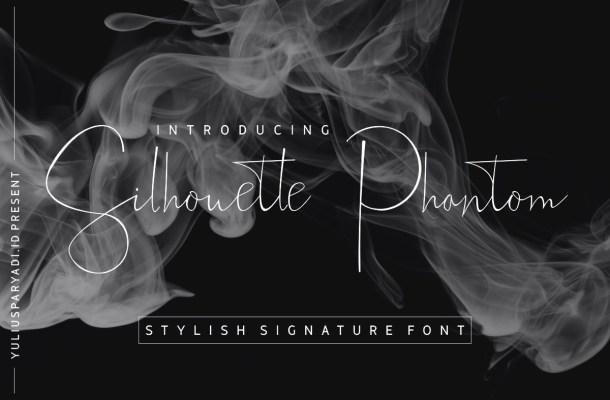 Silhouette Phantom Signature Handwritten Font